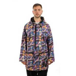 GarbageTV | Smash It Anorak Monster Print - Concrete