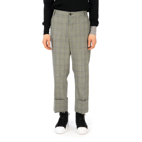 Vivienne Westwood | Cropped George Trousers White - Prince of Wales - Concrete
