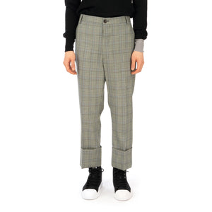 Vivienne Westwood | Cropped George Trousers White - Prince of Wales