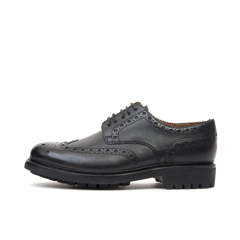 Grenson 'Archie' Broque Black/Alpine Grain
