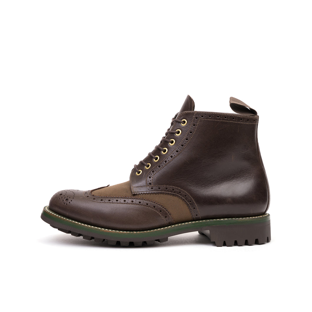 Grenson x Barbour Acklam Dark Brown/Expresso Waxy