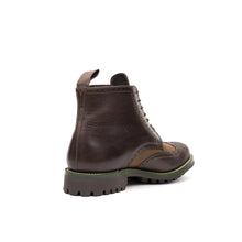 將圖像加載到畫廊查看器中Grenson x Barbour Acklam Dark Brown/Expresso Waxy