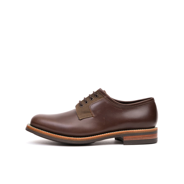 Grenson x Barbour Peterlee Dark Brown/ Waxy Cyclone - Concrete