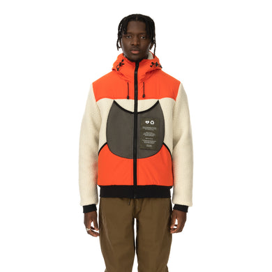 Griffin | Reversible Hooded Jogger Sherpa / Orange - Concrete