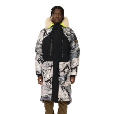 Griffin | Reversible Sleeping Bag Coat Snow Camo / Black - Concrete