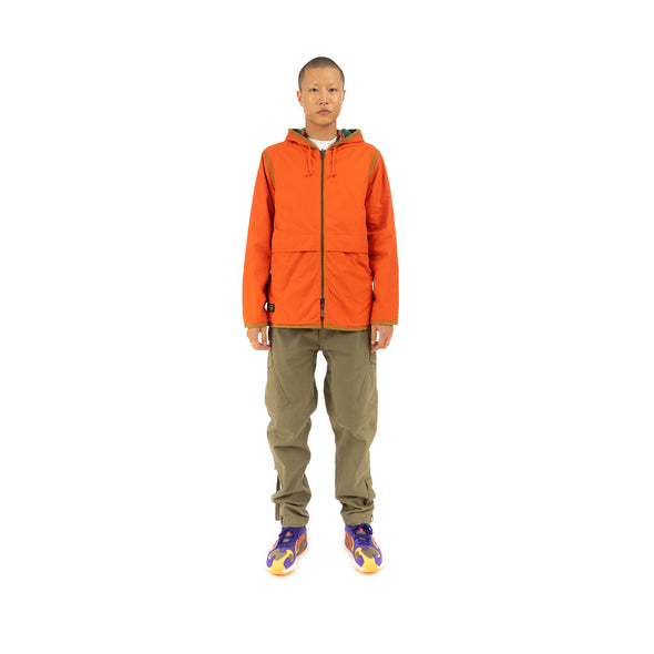 Element x Nigel Cabourn Alder Reversible Blanket Fleece Jacket Orange/Multicolor - Concrete
