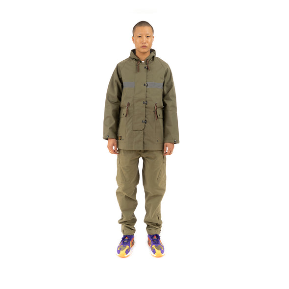 Element x Nigel Cabourn Cameraman Parka Military Green - Concrete