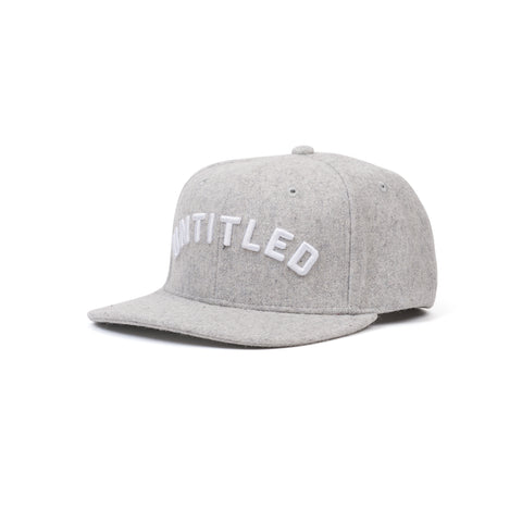 Untitled Merino Wool Arc Snapback Lunar Grey
