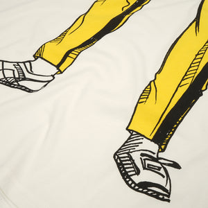Ground Zero Yellow Bruce L. Oversize T-Shirt Cape