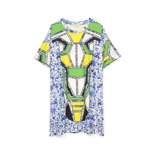 Ground Zero Chinese Floral Print Oversize T-Shirt
