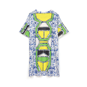 Ground Zero | Chinese Floral Print Oversized T-Shirt - Concrete