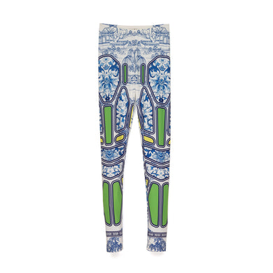 Ground Zero Chinese Floral Geometric Print Legging