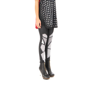 Ground Zero | Birkin Digital Printed Legging Black - Concrete