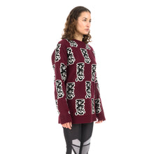 Load image into Gallery viewer, Ground Zero | Furious Pattern Jacquard Sweater Burgundy - Concrete