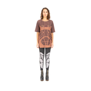 Ground Zero Geometric Wood Print T-Shirt Wood