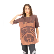 將圖像加載到畫廊查看器中Ground Zero Geometric Wood Print T-Shirt Wood