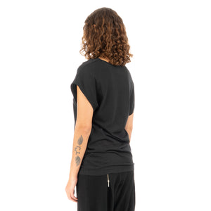 Ground Zero No More Crossover Drappy Tee Dress Blk