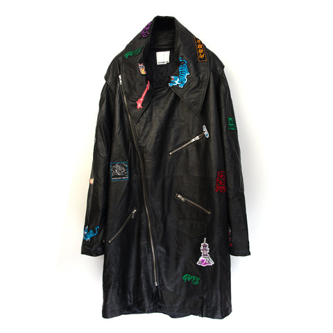 Ground Zero Patches Leather Jacket Black