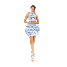 將圖像加載到畫廊查看器中Ground Zero Chinese Floral Print Round Vase Dress