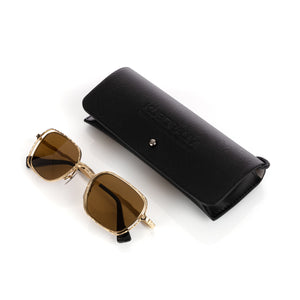 KUBORAUM Sunglasses & Case H22 49-22 GD Dark Brown - Concrete
