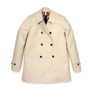 Hancock Double Breasted Raincoat Mastic/Maze - Concrete