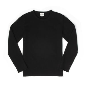 Hansen Verner Crewneck Sweater Black - Concrete