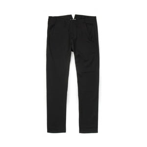 Hansen | W 'Aase' Slim Fitted Trousers Black - Concrete