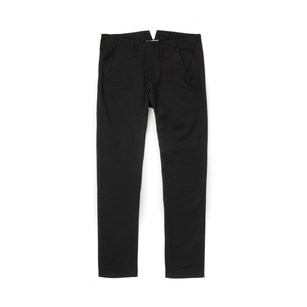Hansen Wmns Aase Slim Fitted Trousers Black - Concrete