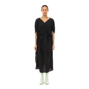 Henrik Vibskov | New Jelly Dress Plissé Black - Concrete