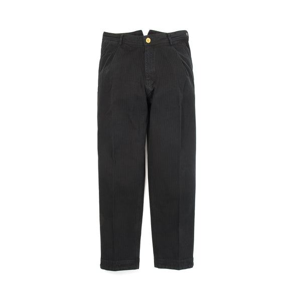 Hansen 'Eigil' Wide Work Trousers Black