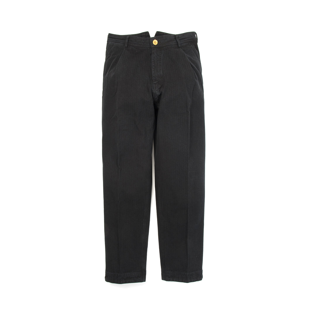Hansen | 'Eigil' Wide Work Trousers Black - Concrete