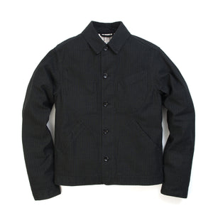 Hansen Laust Work Jacket Black Pin Stripe