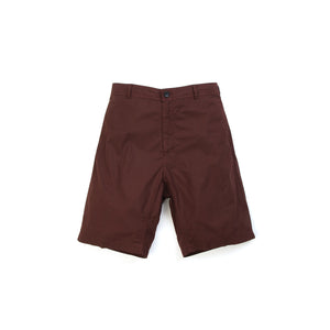 Hansen | 'Bertil' Loose Fit Shorts Dark Rust - Concrete