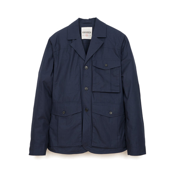 Hansen | 'Anton' Open Back Jacket Artic Blue - Concrete
