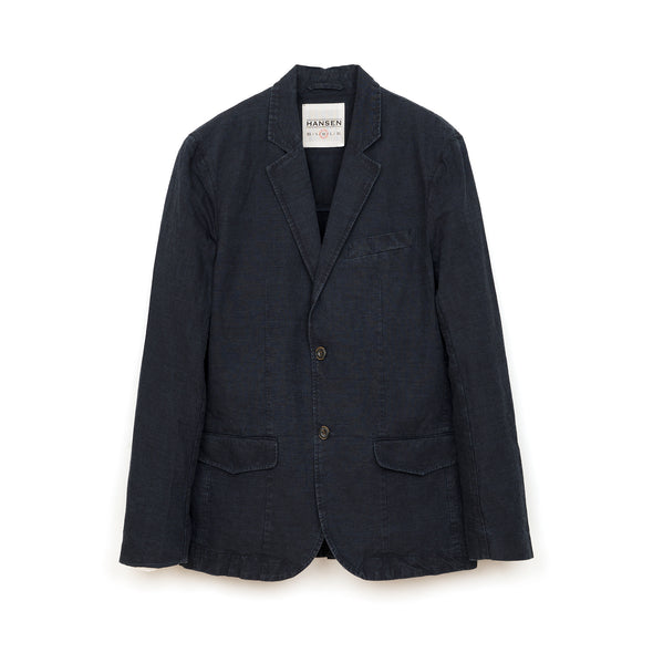 Hansen | 'Frederik' Casual Two Button Blazer Blue Wash - Concrete