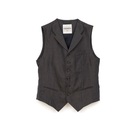 Hansen 'William' Casual Vest Khaki Blue