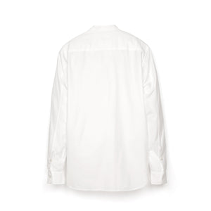 Hansen 'Valmar' Collarless Bib Shirt White