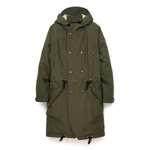 Hansen 'Bjarne' Hooded Wool Lined Coat Tech Army