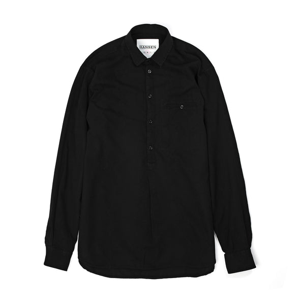 Hansen | 'Asgeir' Pull On Shirt Black - Concrete