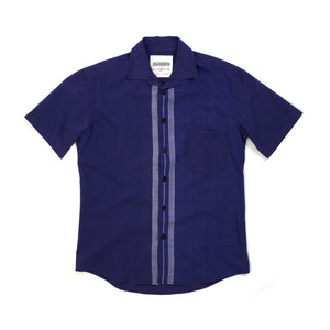Hansen | 'Jonny' Short Sleeved Shirt Blue - Concrete