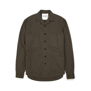 Hansen | 'Sten' Light Over Shirt Artichoke - Concrete