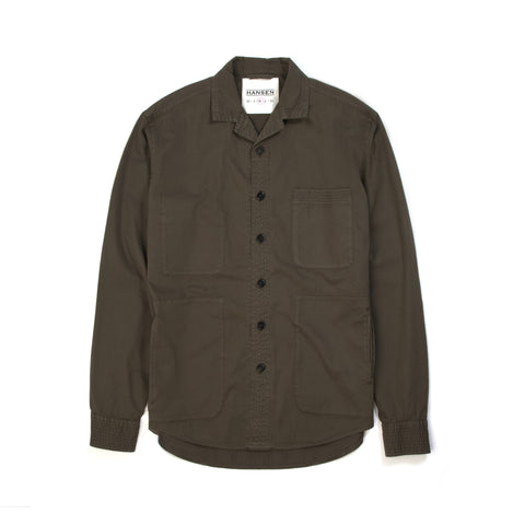 Hansen Sten Light Over Shirt Artichoke - Concrete