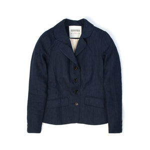 Hansen | W 'Lena' Long Sleeved Blazer Unconstructed Navy Delave - Concrete
