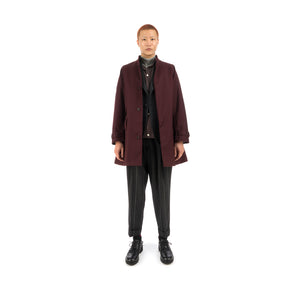 Haversack | Coat Burgundy 471930-26 - Concrete