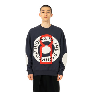 Henrik Vibskov | Big Circle Sweat Navy - Concrete