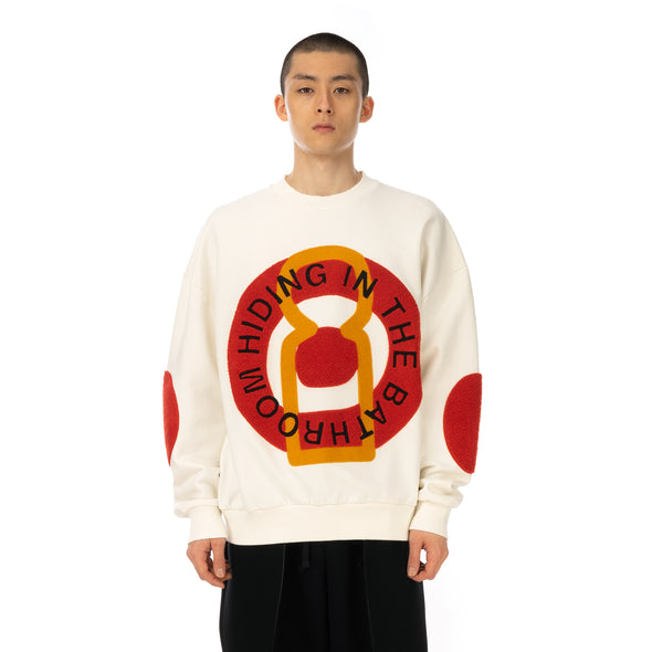 Henrik Vibskov | Big Circle Sweat Off White - Concrete