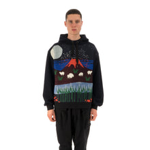 Load image into Gallery viewer, Henrik Vibskov Volcano Hoodie Dark Blue