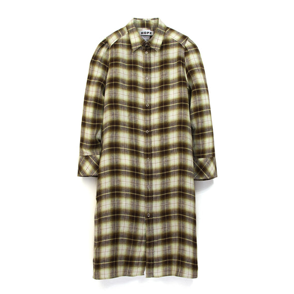 Hope Unisex Tale Dress Yellow Check - Concrete