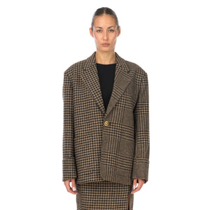 Hope | Icon Blazer Beige Duo Check - Concrete