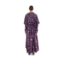 Afbeelding in Gallery-weergave laden, Hope Frill Silk Kaftan Purple Sweep